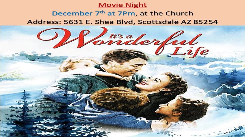 Church Movie Night – It's A Wonderful Life