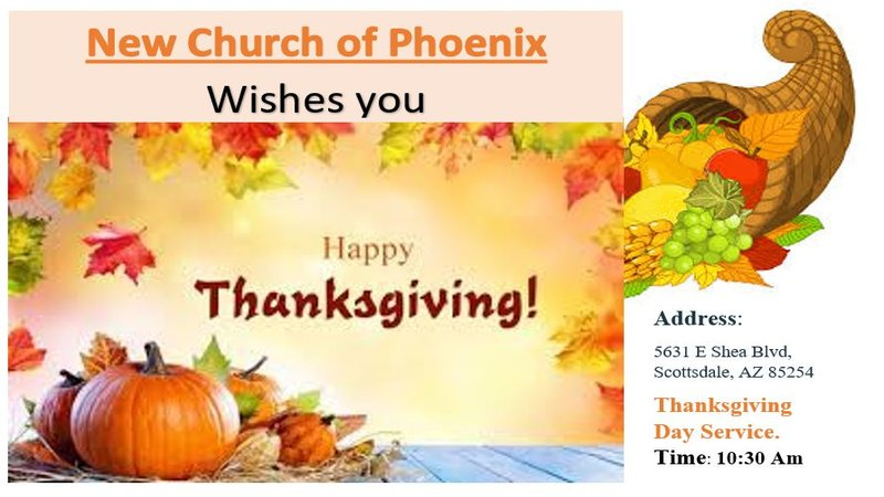 Thanksgiving Day Service – Thursday, November 22, 2018 at 10:30 Am