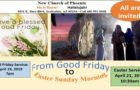 Good Friday and Easter Sunday Service