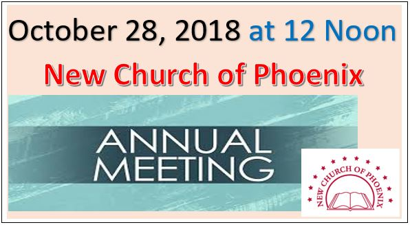 Annual Society Meeting – New Church of Phoenix