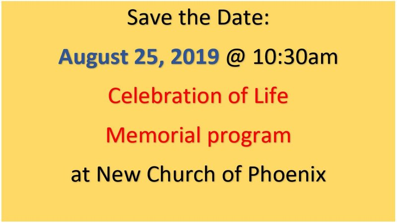 Celebration of Life – Memorial Program