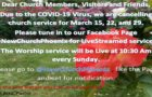 3/18/20 CoronaVirus & No In-Person Worship Service
